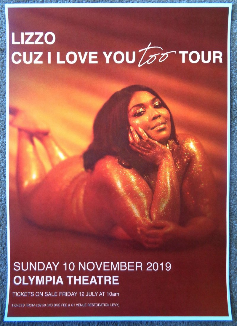 LIZZO 2019 Gig POSTER Dublin Ireland Concert