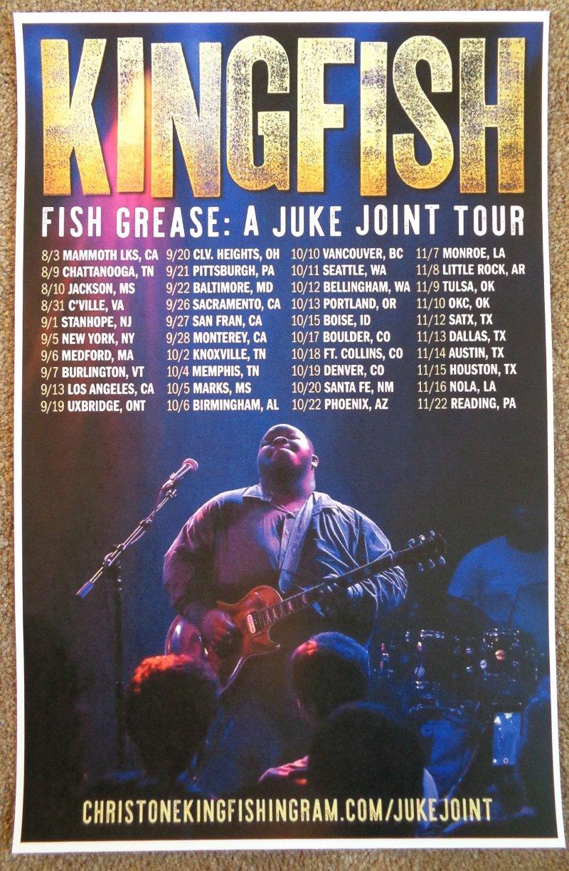 Ingram CHRISTONE KINGFISH INGRAM  2019 Tour POSTER North America Gig Concert