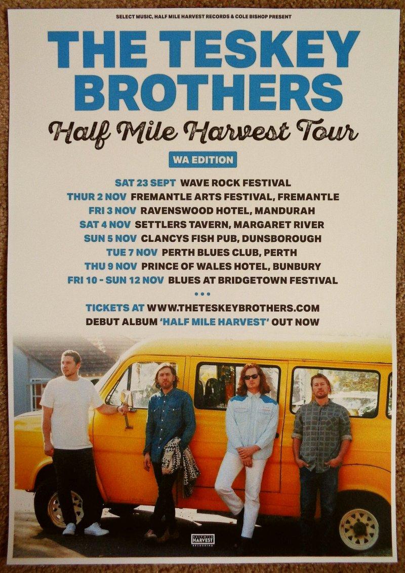 TESKEY BROTHERS Tour POSTER Australia Fall 2017 Gig Concert