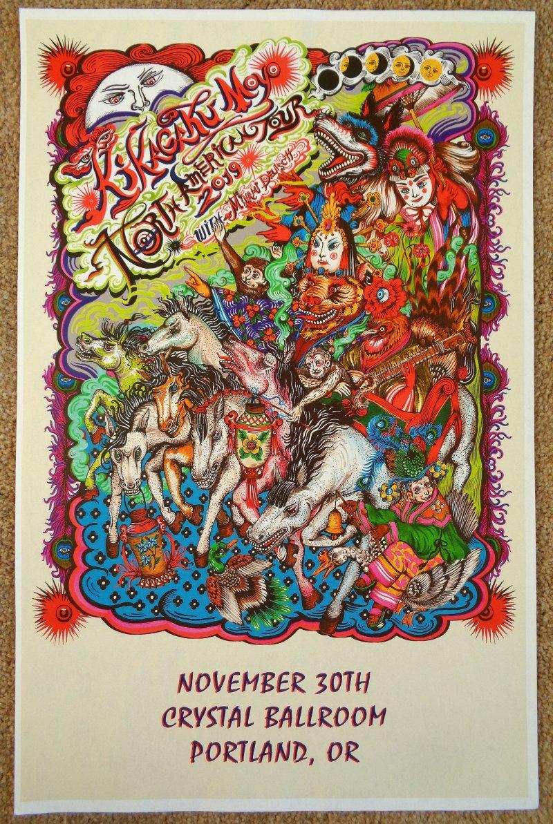 Image 0 of KIKAGAKU MOYO 2019 Gig POSTER Portland Oregon Concert