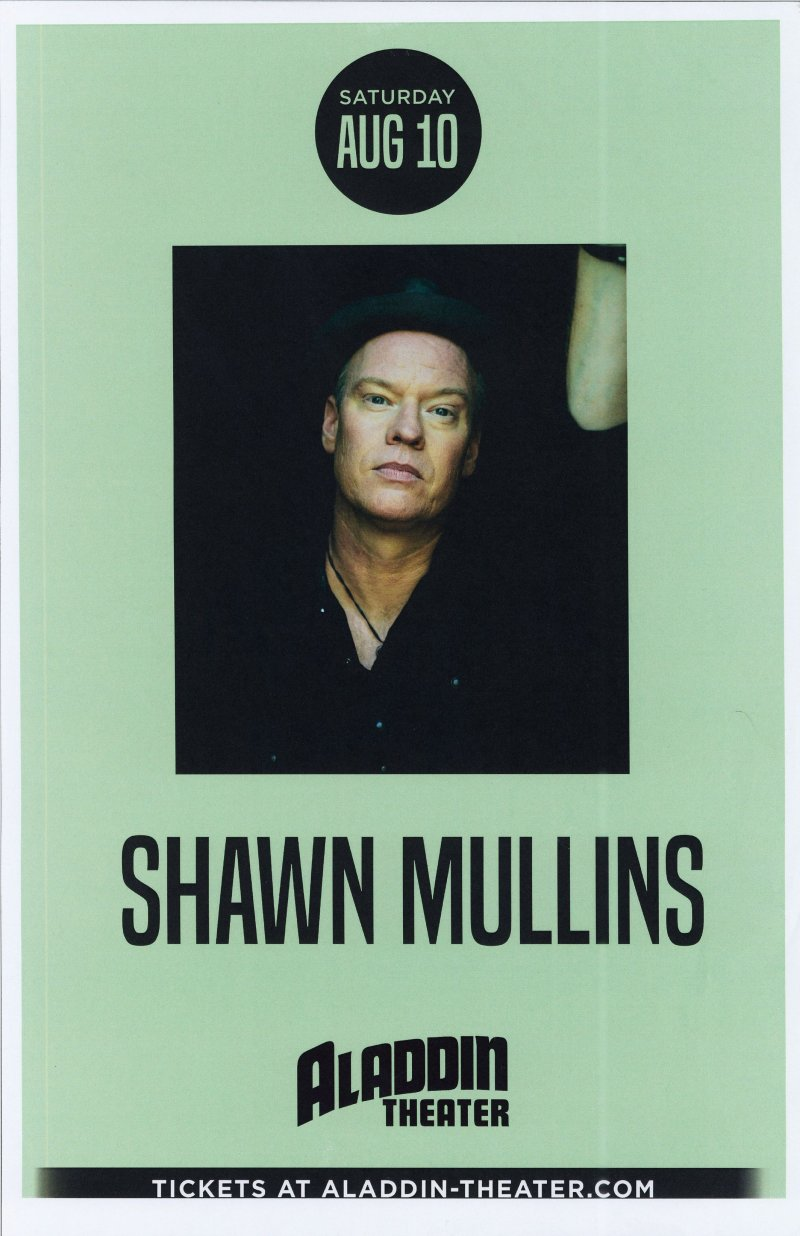 Mullins SHAWN MULLINS 2019 Gig POSTER Portland Oregon Concert