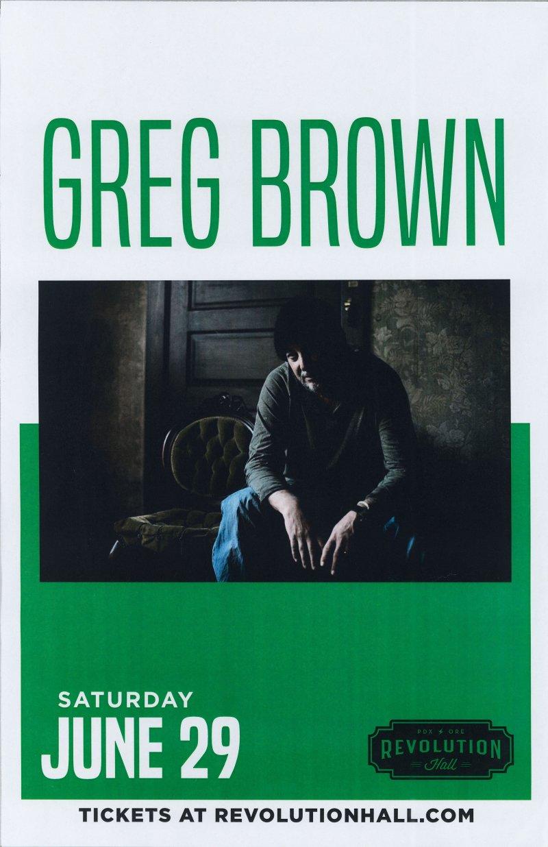 Image 0 of Brown GREG BROWN 2019 Gig POSTER Portland Oregon Concert