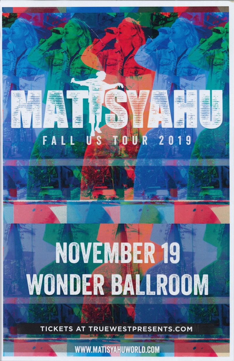 Image 0 of MATISYAHU 2019 Gig POSTER Portland Oregon Concert
