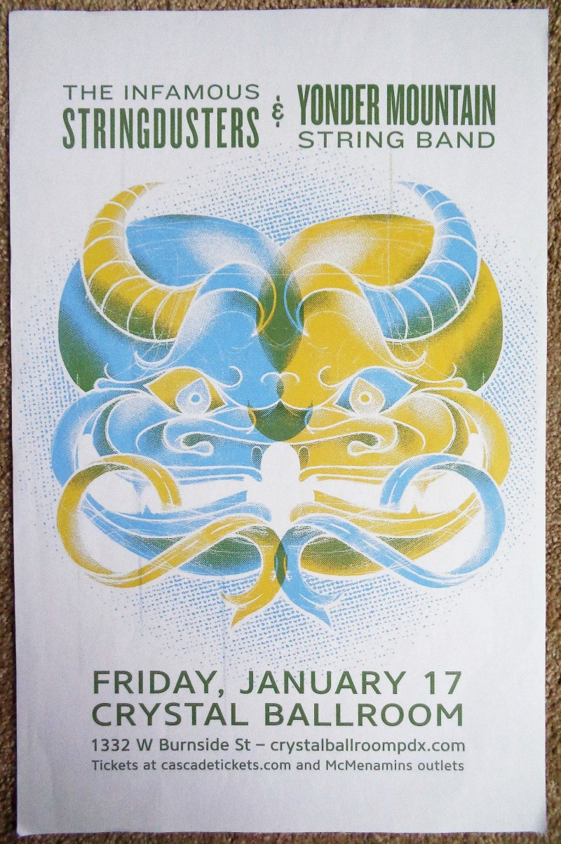 INFAMOUS STRINGDUSTERS 2020 POSTER Portland Concert YONDER MOUNTAIN STRING BAND