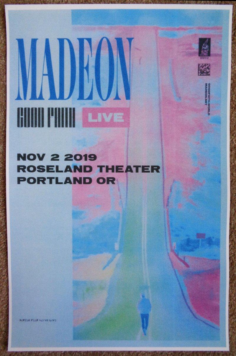 Image 0 of MADEON 2019 Gig POSTER Portland Oregon Concert Hugo Pierre Leclercq