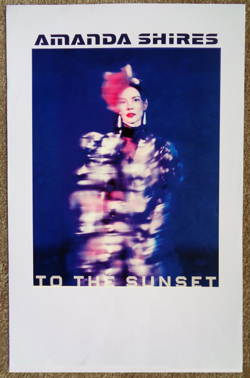 Image 0 of AMANDA SHIRES Album POSTER To The Sunset 2018