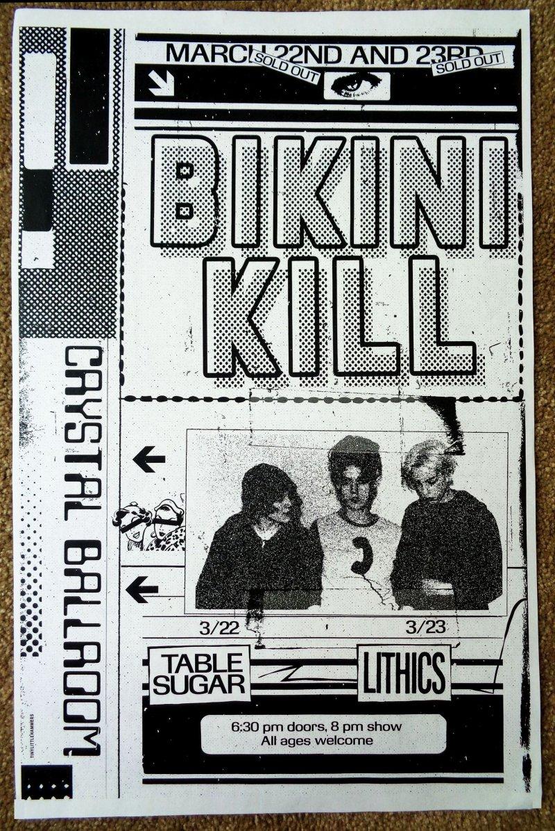 Image 0 of BIKINI KILL 2020 Gig POSTER Portland Oregon Concert