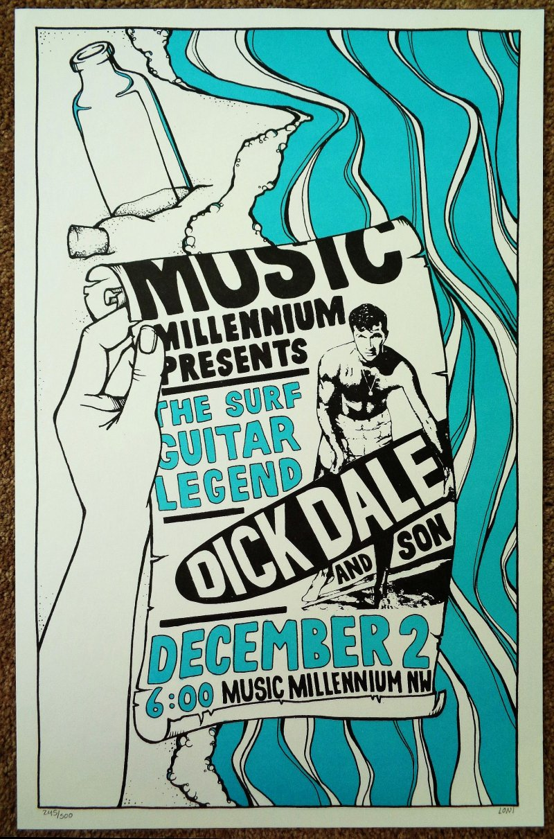 Dale DICK DALE Numbered 2006 Gig POSTER In-Store Portland Oregon Concert