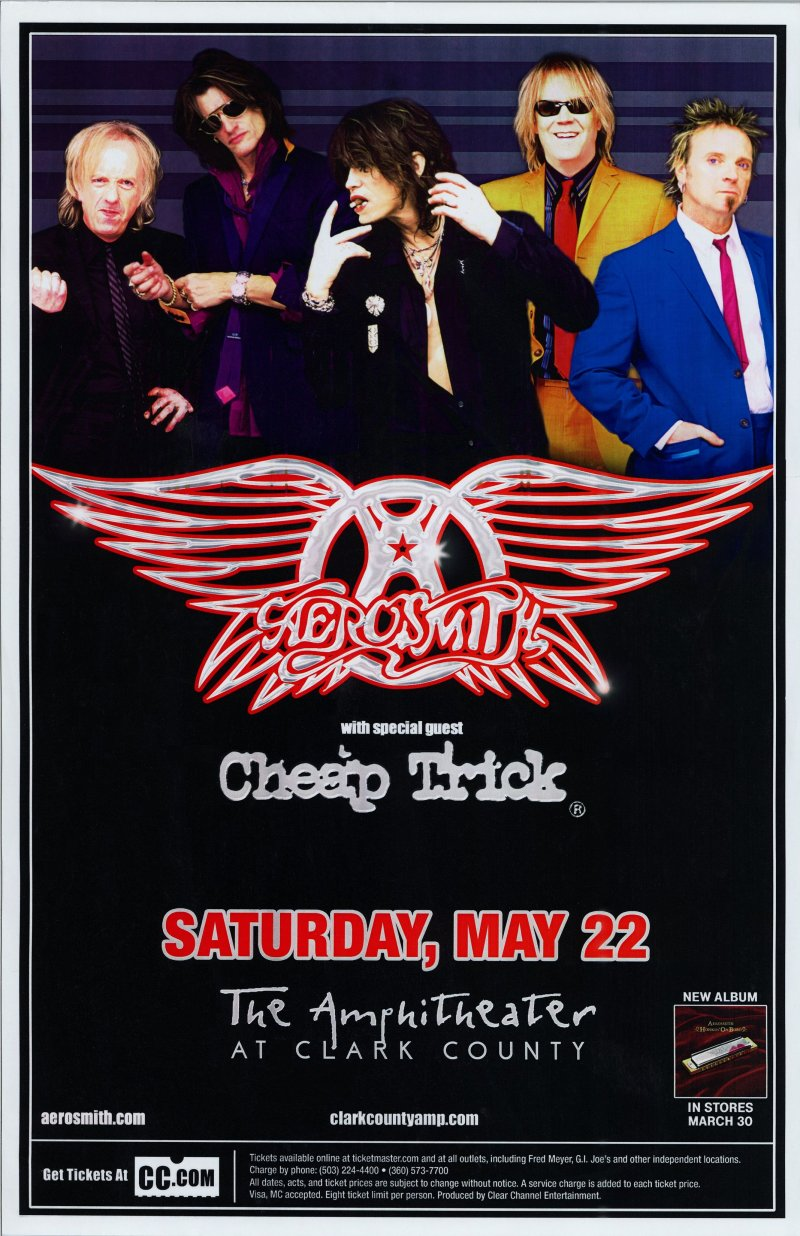 AEROSMITH 2004 Gig POSTER Ridgefield Washington Concert STEVE TYLER & JOE PERRY