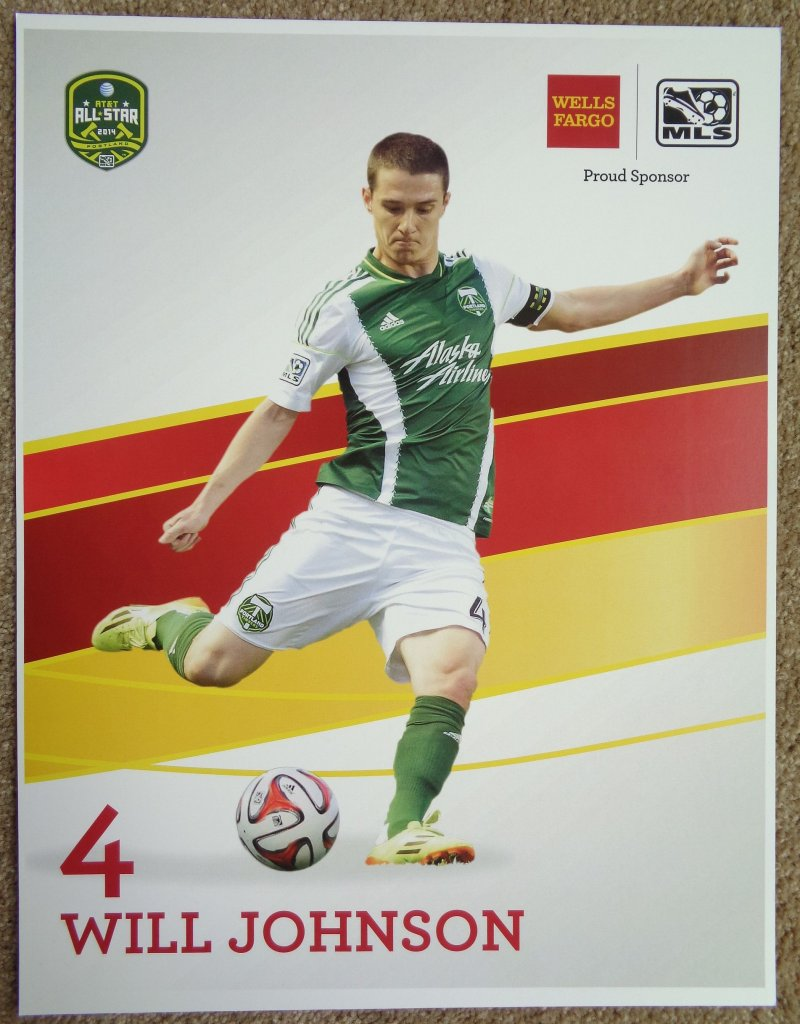 Johnson WILL JOHNSON 2014 POSTER Soccer MLS All-Star Game Portland Timbers