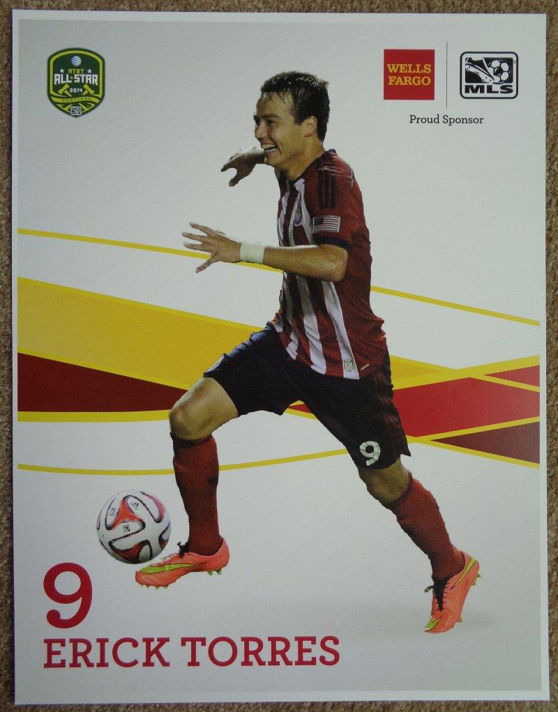 Torres ERICK TORRES 2014 POSTER Soccer MLS All-Star Game Chivas USA