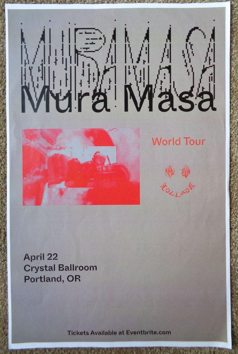 Masa MURA MASA 2020 Gig POSTER Portland Oregon Concert Alex Crossan