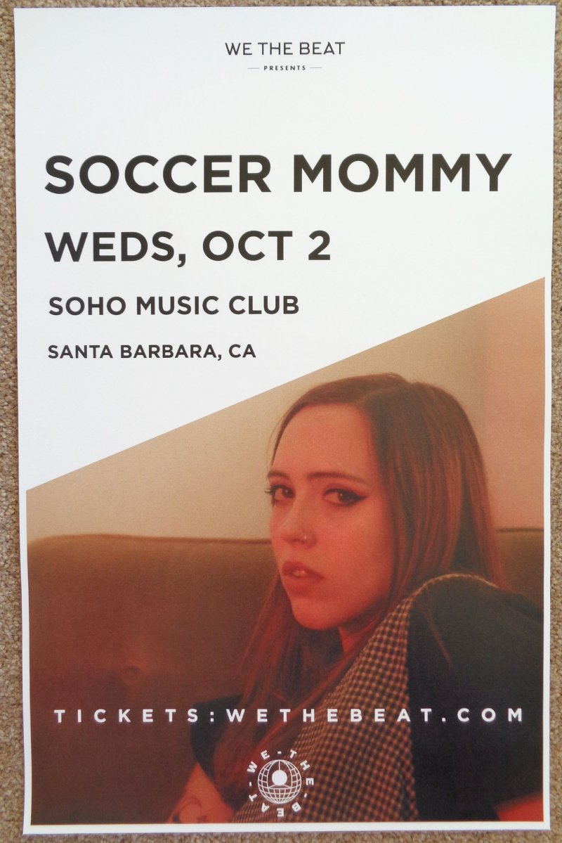 Image 0 of SOCCER MOMMY 2019 Gig POSTER Santa Barbara California Concert Sophie Allison