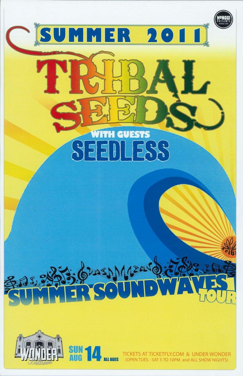 TRIBAL SEEDS 2011 Gig POSTER Portland Oregon Concert