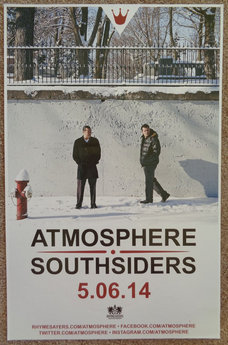 ATMOSPHERE Album POSTER Southsiders 2-Sided 2014 Tour
