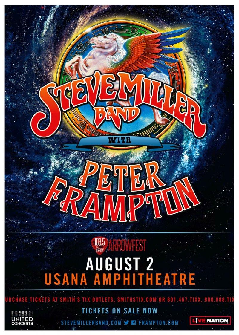 Frampton PETER FRAMPTON / STEVE MILLER BAND 2017 Gig POSTER Utah Concertl