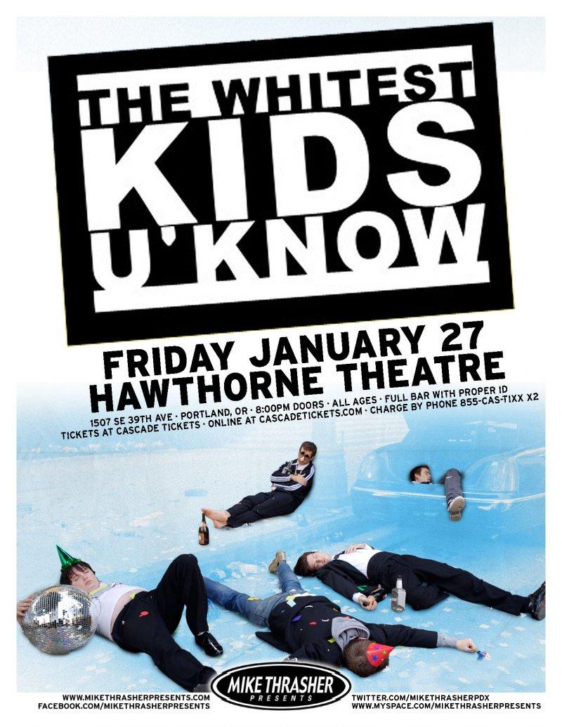 WHITEST KIDS U' KNOW 2012 Gig POSTER Trevor Moore Portland Oregon Comedy
