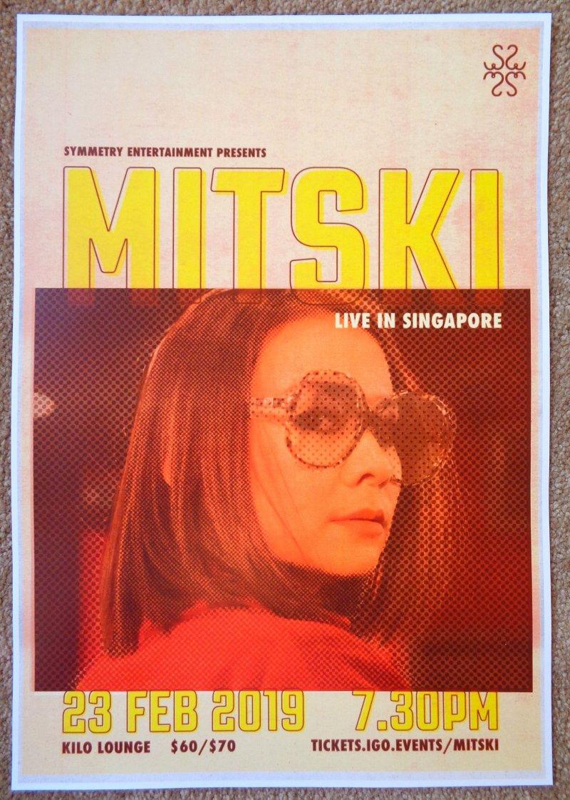 MITSKI 2019 Gig POSTER Singapore Concert