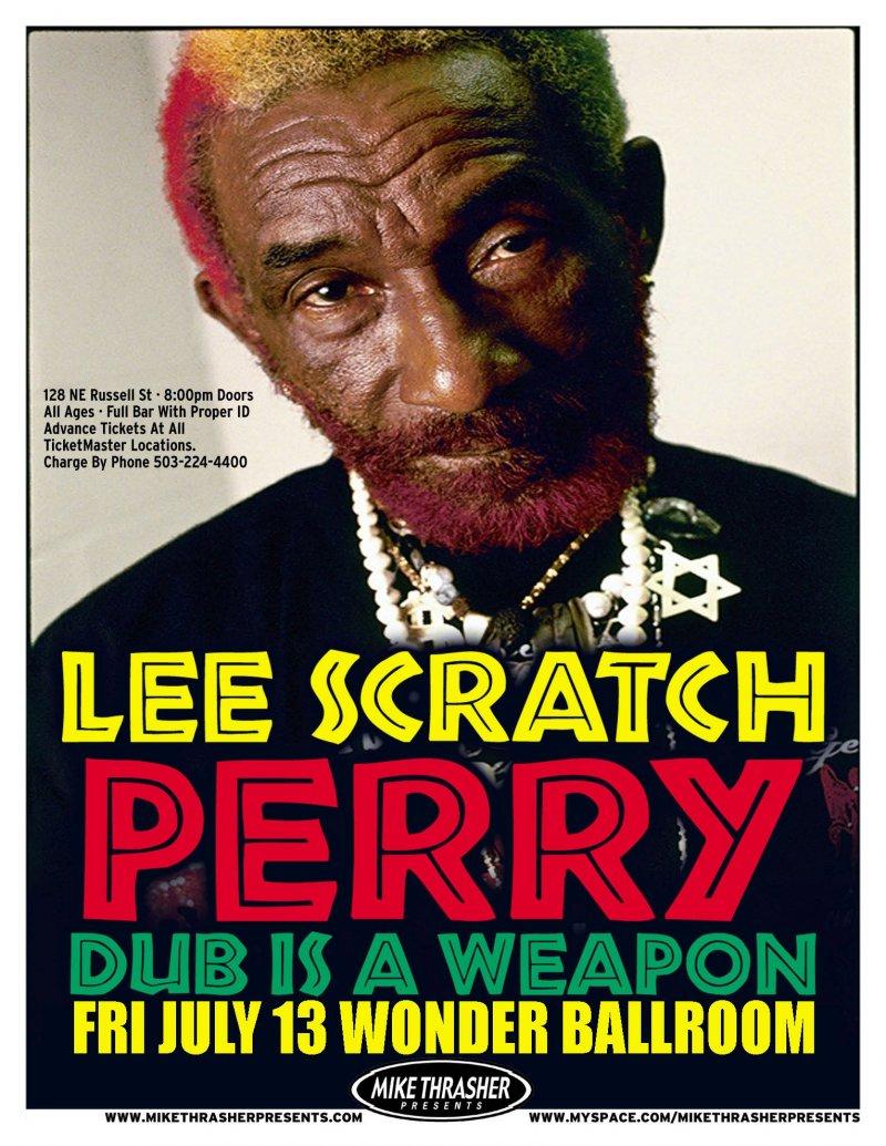 Perry LEE SCRATCH PERRY 2007 Gig POSTER Reggae Portland Oregon Concert