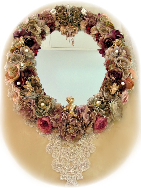 Image 0 of Grand Victorian Gilded Cherub Mirror