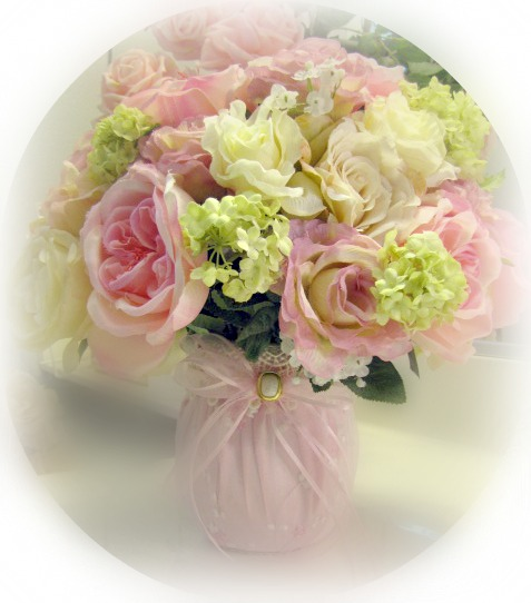 Image 0 of Pink Roses Medium Flower Arrangement