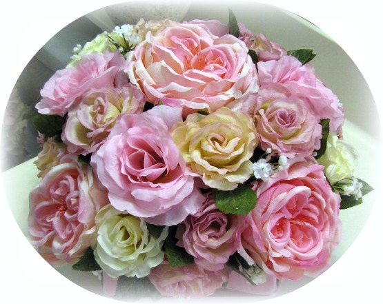 Image 2 of Square Glass Pink Floral Arrangement