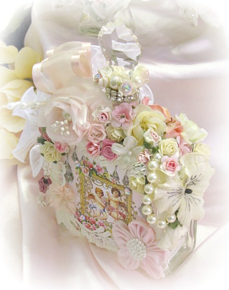 Image 2 of Pink Regency Cherub Square Potion Bottle