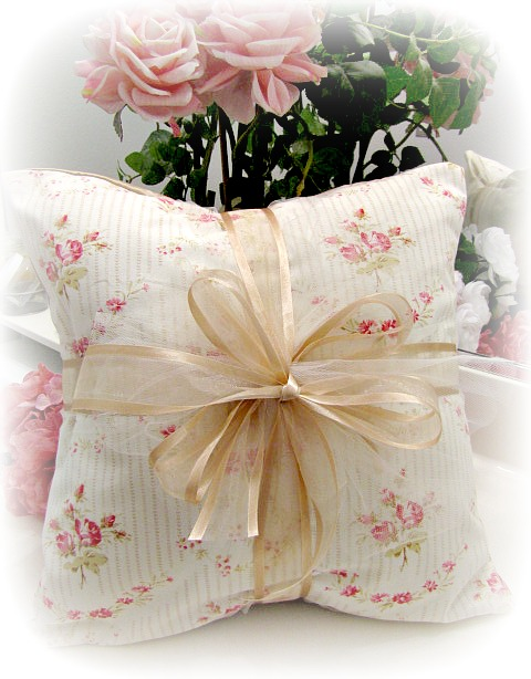 Image 1 of Everyday Romance Vintage Tea Rose Pillow