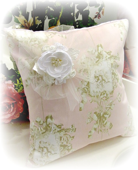 Image 1 of Everyday Romance Vintage Cherubs Pillow