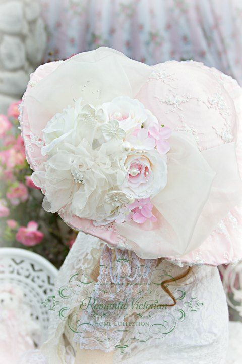 Roses and Pearls Pink Beaded Victorian Hat