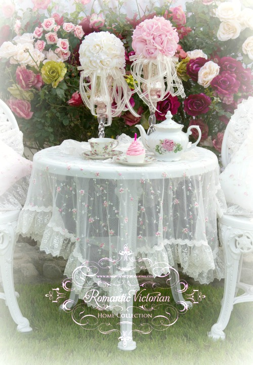 Image 1 of Pink Roses and Pearls Kissing Ball