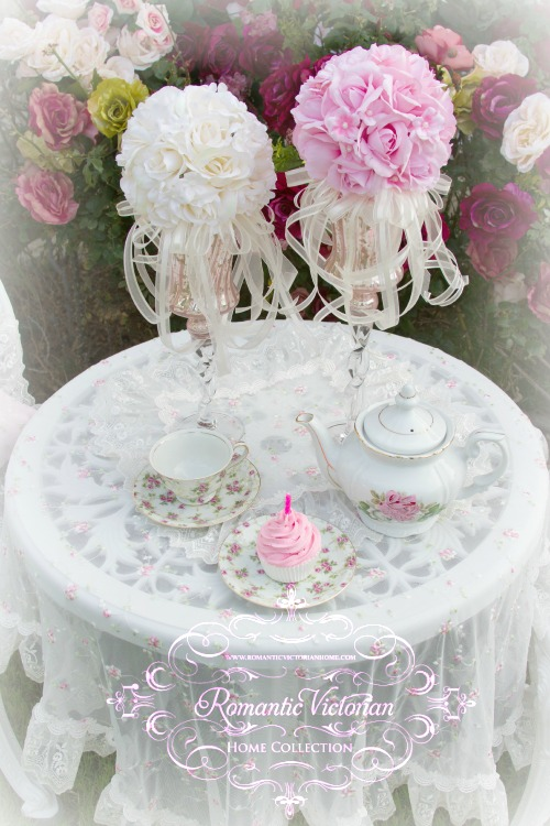 Image 2 of Pink Roses and Pearls Kissing Ball