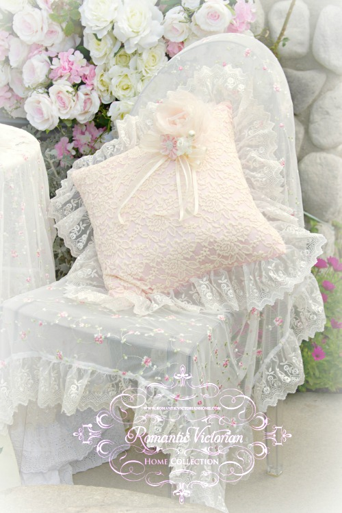Pink and Creme Everyday Romance Square Pillow