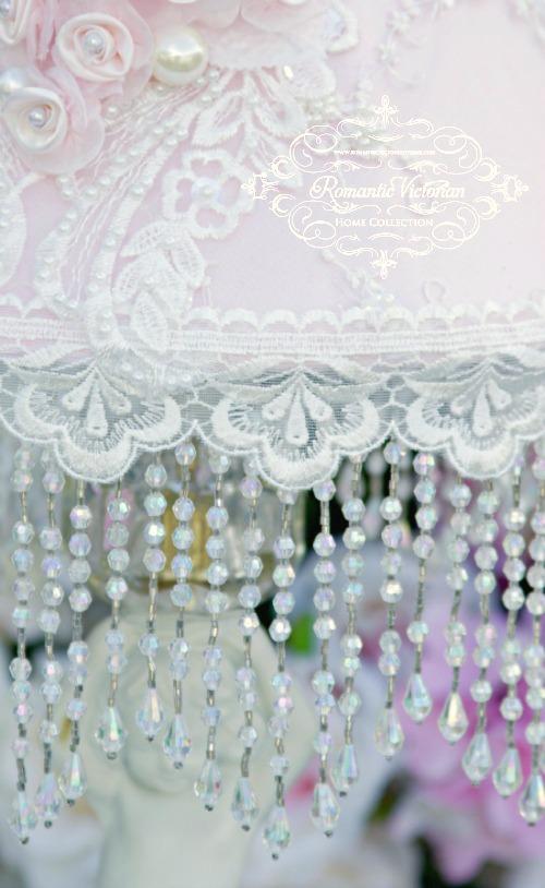 Image 1 of Roses and Pearls Medium Lamp Shade (shade only)