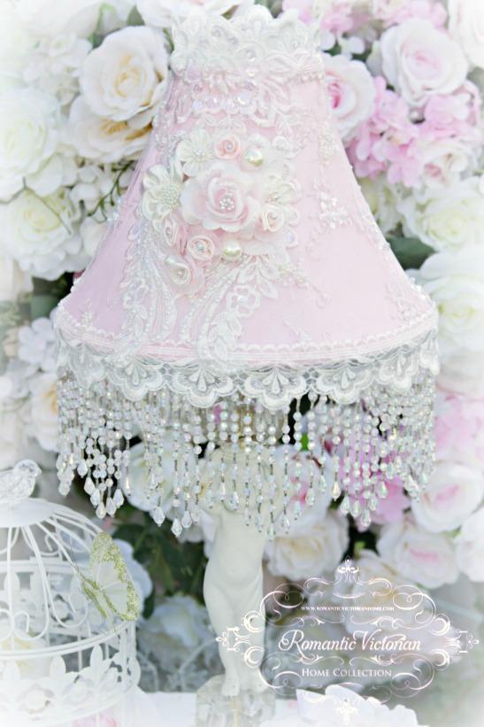 Image 0 of Roses and Pearls Medium Lamp Shade (shade only)