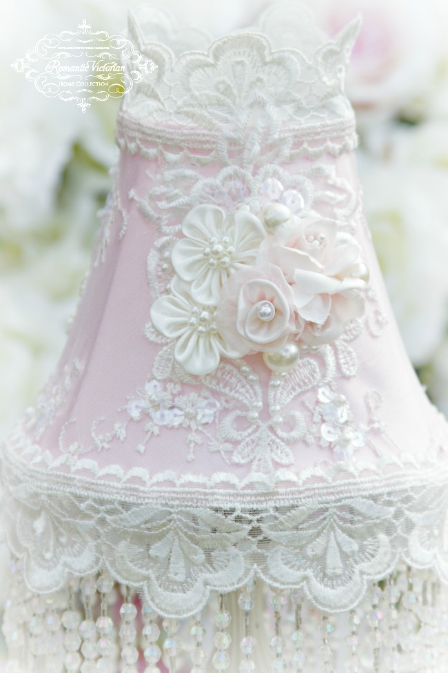 Image 0 of Roses and Pearls Small Lamp Shade (shade only)