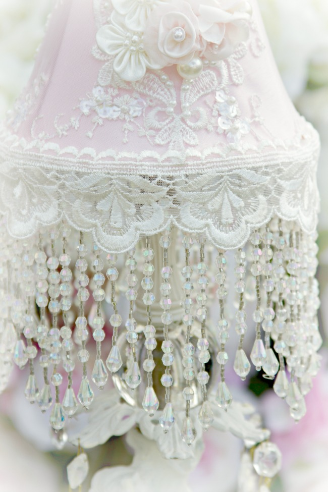 Image 2 of Roses and Pearls Small Lamp Shade (shade only)