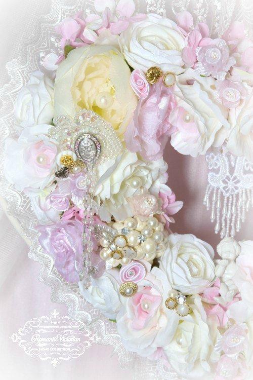 Image 2 of Pink Cherub Heart Wreath
