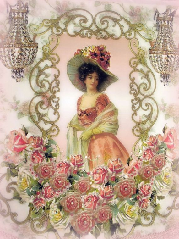Image 5 of Crystal Roses Wall Tapestries