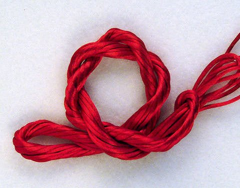 Currant Red Petite Satin Cord