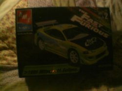 fast and the furious 1995 mitsubishi eclipse model kit