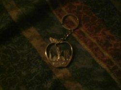 big apple keychain