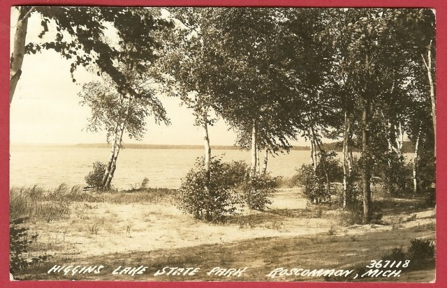 Rosommon Mi Higgins Lake State Park RPPC BJs