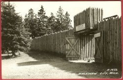 Mackinaw City Mi Postcard Fort Michilimackinac Michigan RPPC