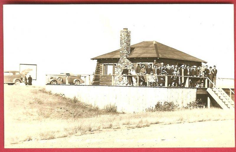 Copper Harbor Mi Sky Top Inn West Bluff RPPC Postcard