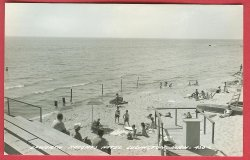 Ludington Mi Epworth Heights Hotel Beach RPPC Postcard