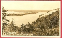 Tawas Mi Deer Island AuSable River RPPC Postcard
