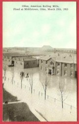 Middletown Ohio Postcard Flood 1913 American Rolling Mills Office
