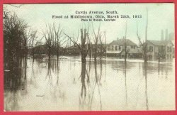 Middletown Ohio Postcard Flood 1913 Curtis Avenue Watson Photo Homes