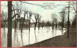 Middletown Ohio Postcard Flood 1913 Clark Street Watson Photo